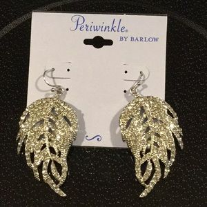 Periwinkle By Barlow Silver Rhinestone Earrings